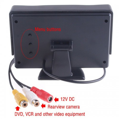 "4.3"" TFT LCD Car Reverse RearView Color Monitor DVD VCR"