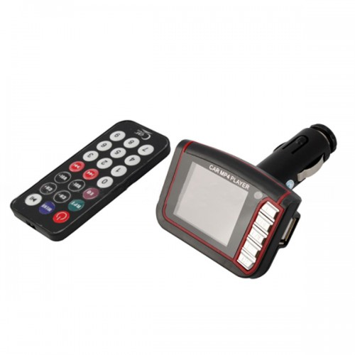 "Black 1.8"" LCD Car MP3 MP4 Player FM Transmitter SD/MMC"