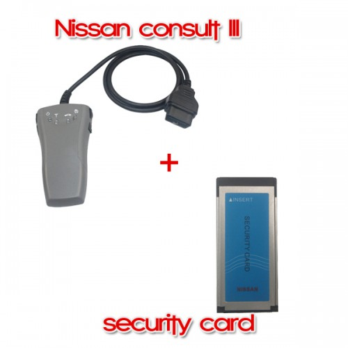 Consult III Diagnostic Tool for Nissan Plus Security Card for Immobilizer