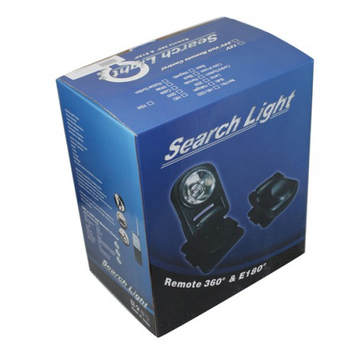 HID SPOTLIGHT 360º SPOT LIGHT LAMP SEARCHLIGHT BOAT CAR WIRELESS REMOTE 75W