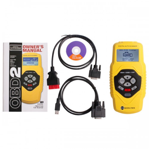 Highend Diagnostic Scan Tool OBDII auto scanner T79(yellow, multilingual,updatable)