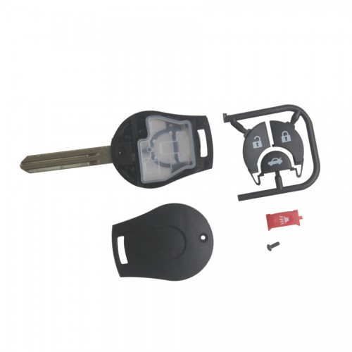 Remote Key Shell 4 Button for Nissan March 10pcs/lot