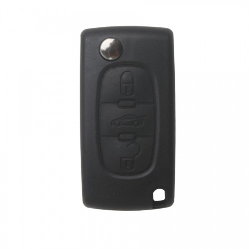 3 Button 433MHZ Remote Key shell for Peugeot 5pcs/lot