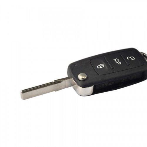 3 Button Remote Flip Key 434MHz 5K0 837 202 AD CAN Chip Inside For VW