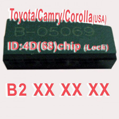 4D (68) Duplicabel Chip B2XXX for Toyota/Camry/Corolla 10pcs/lot