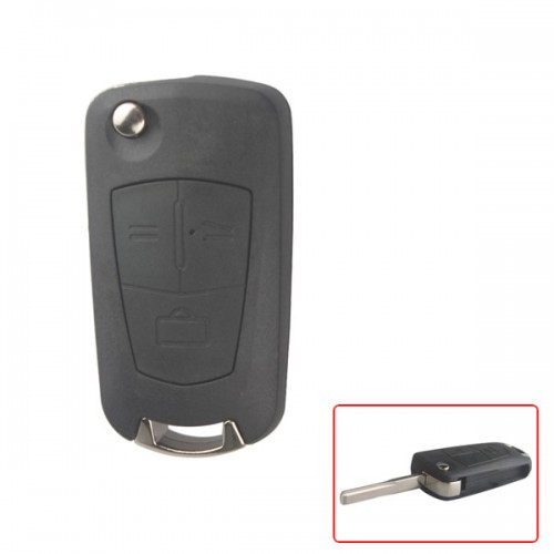 Modified filp remote key shell 3 button (HU43) for Opel 5pcs/lot