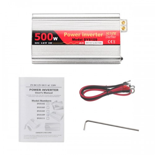 500W USB Car Inverter DC 12V to AC 110V