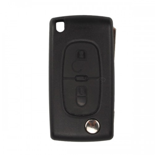 Remote Key Shell 2 Button for Peugeot Flip (Without Battery Location) 10pcs/lot