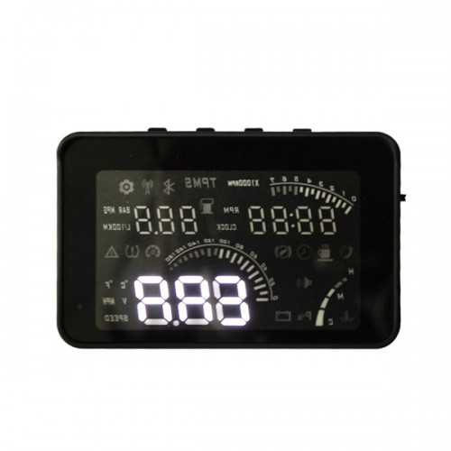 "4 "" Smart Voice HEAD UP DISPLAY with OBD2 Interface KM/h & MPH Speeding Warning W03 (with OBD line)"