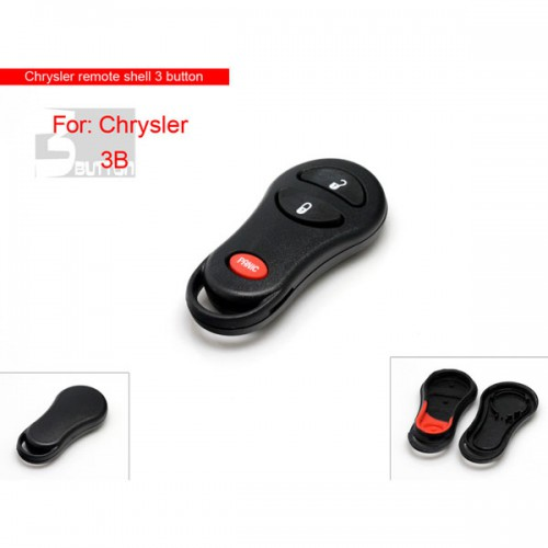 Remote shell 3 button for Chrysler 5pcs/lot