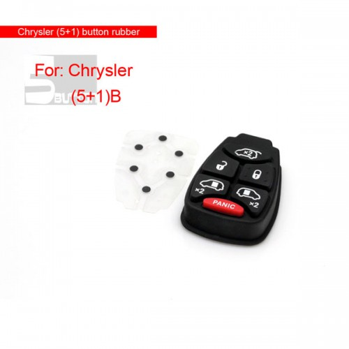 (5+1) button rubber for Chrysler 5pcs