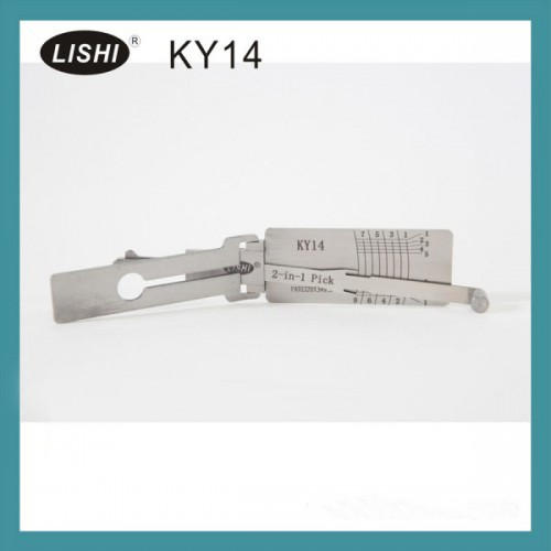 LISHI ピック開錠ツールLISHI KY14 2-in-1 Auto Pick and Decoder for HYUNDAI KIA【送料無料】