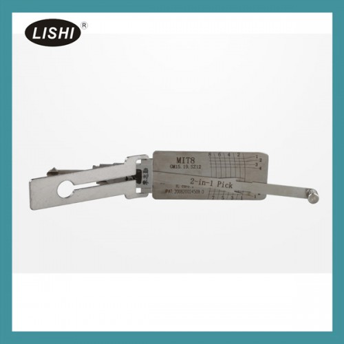 LISHI自動車鍵ピック開錠ツール LISHI MIT8 (GM15 19) 2-in-1 Auto Pick and Decoder