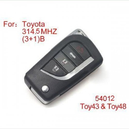 Modified Remote Key 4buttons 314.4 /315 /314 /314.3MHZ(No Chip Included) for Toyota