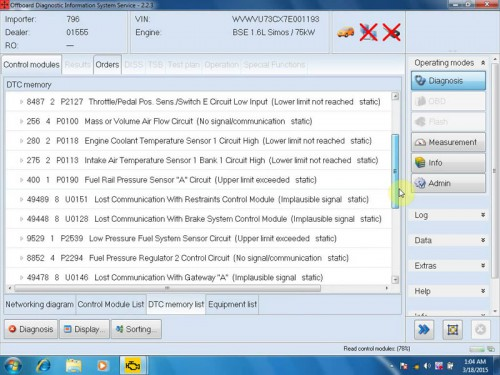 ODIS 2.23/2.22 Software for VW/AUDI imports/Faw/Shanghai/Skoda
