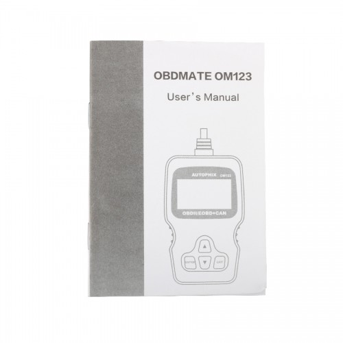 OM123 OBD2 EOBD CAN Hand-held Engine Code Reader ( black Color )