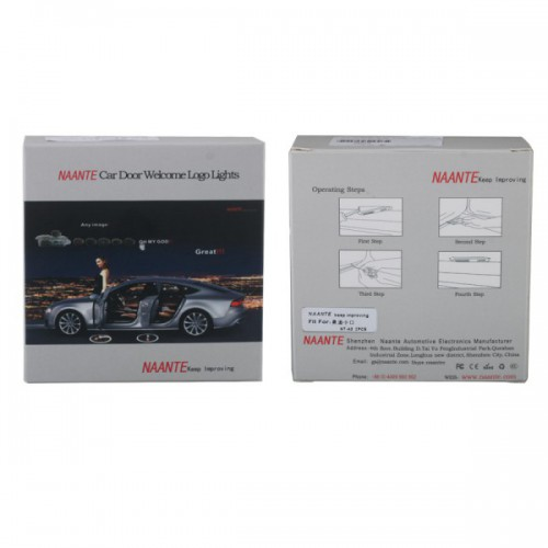 New AUDI Naante Super Cool Logo/Car Auto Special Super Door Lamp Welcome Light