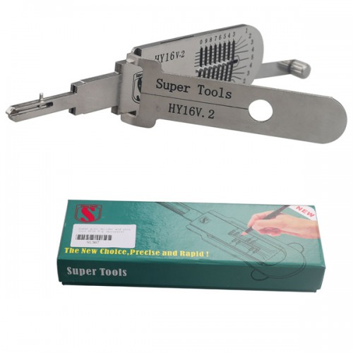 Super Tools Auto Decoder and Pick Tool  HY16 v.2 (Accurate)