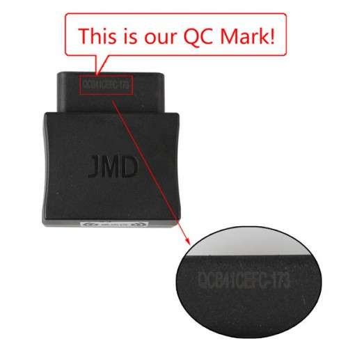 JMD Assistant Handy Baby OBD Adapter used to read out ID48 data from Volkswagen
