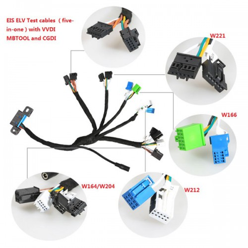 Benz EIS ELV Test cables 5-in-1 Works Together with VVDI MB TOOL/ CGDI Prog MB