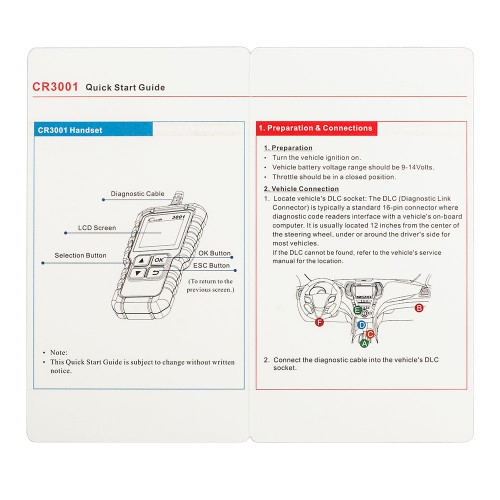 Launch Creader 3001 OBDII  EOBD Code Reader Scanner Multilingual Same as Al419