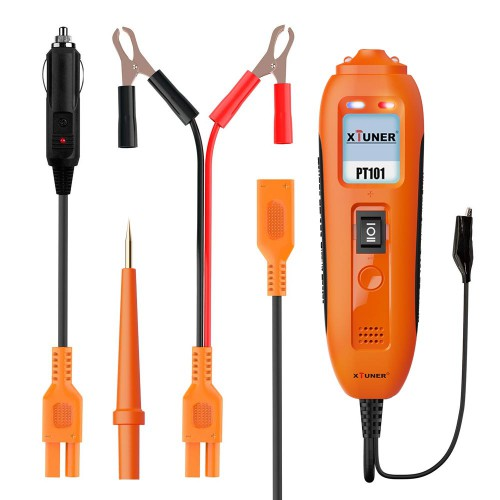 XTUNER PT101 12V and 24V Power Probe Circuit Tester DC AC Electrical System Diagnostic Tool