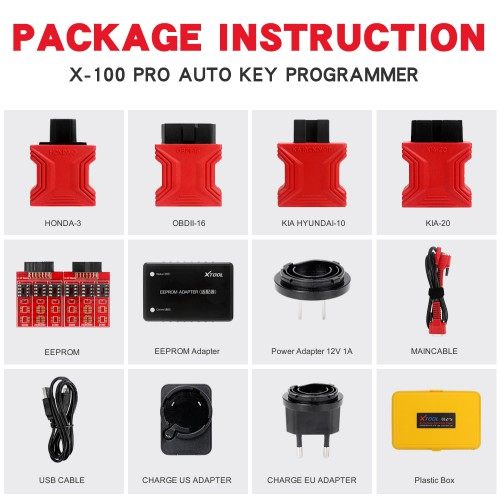 XTOOL X100 Pro 2 OBD2 Auto Key Programmer Mileage Adjustment with EEPROM Adapter