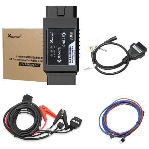 Xhorse Toyota 8A Non-smart Key Adapter for All Key Lost No Disassembly Work with VVDI2 VVDI Key Tool Max plus MINI OBD Tool