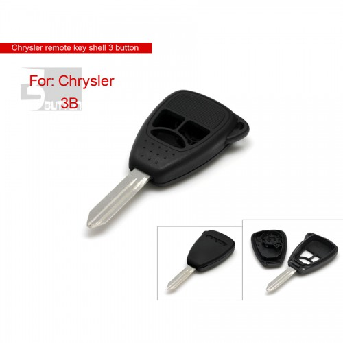 Remote key shell 3 button big for Chrysler 5pcs/lot
