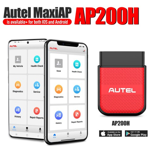 AUTEL MaxiAP AP200H A254 Wireless Bluetooth OBD2 Scanner for All Vehicles (Android and iOS)