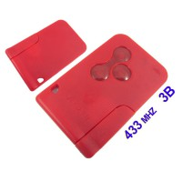 Megane Smart Key (Red Color) 433MHZ for Renault