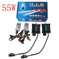 55W 12V Super HID Xenon Slim Ballast Kit 9005 8000K