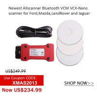 2年間品質保証Newest Allscanner VCM VCX-Nano Scanner for Ford  Mazda LandRover and Jaguar