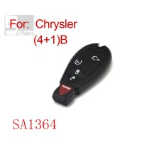 Smart key shell 4+1 button for Chrysler 5pcs/lot