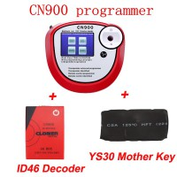 CN900キープログラマー plus CN900 ID46 デコーダーplus YS30 mother key