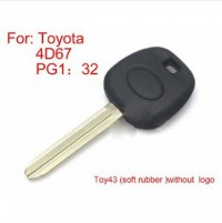 Transponder Key ID4D67 PG1:32 TOY43 (soft) for Toyota 5pcs/lot