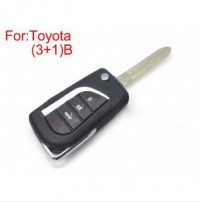 Modified Flip Remote Key Shell (3 +1) Button for Toyota 5pcs