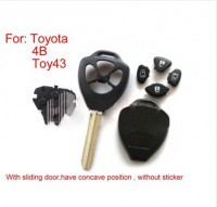 Remote Key Shell 4 Button (without sticker) for Toyota 10pcs/lot