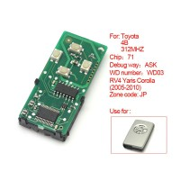 Smart Card Board 4Buttons 312MHZ Number 0111-JP for Toyota
