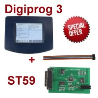 V4.94 Digiprog III Digiprog3 Odometer Master Programmer Entire Kit DP3 plus ST59 Plug