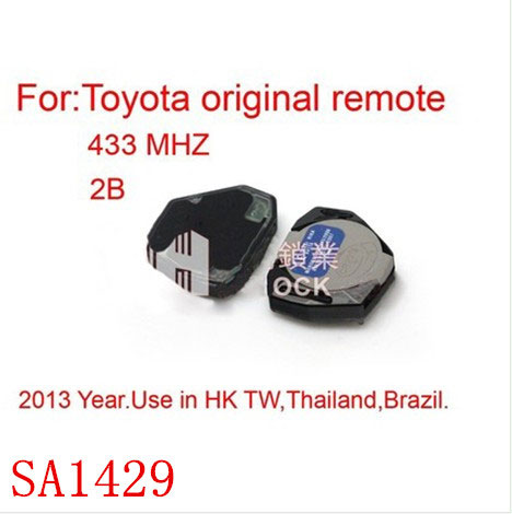 Remote 2 Button 433MHZ for Toyota