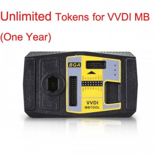 Unlimited Tokens for Xhorse VVDI MB BGA Tool(One Year) 一年間内トークン無制限