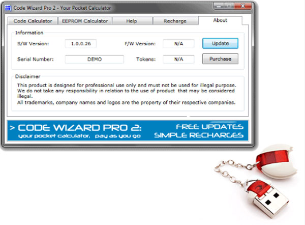 CWP-2 CWP2 Code Wizard Pro 2 PinCode Calculator Device With