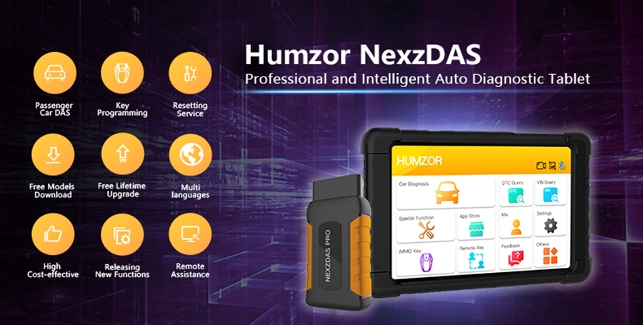 Humzor NexzDAS Pro Bluetooth 10inch Tablet Full System Auto Diagnostic Tool OBD2 Scanner